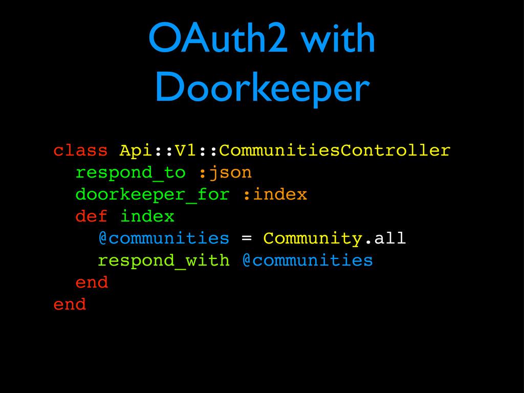 OAuth2 with Doorkeeper class Api::V1::Communiti...