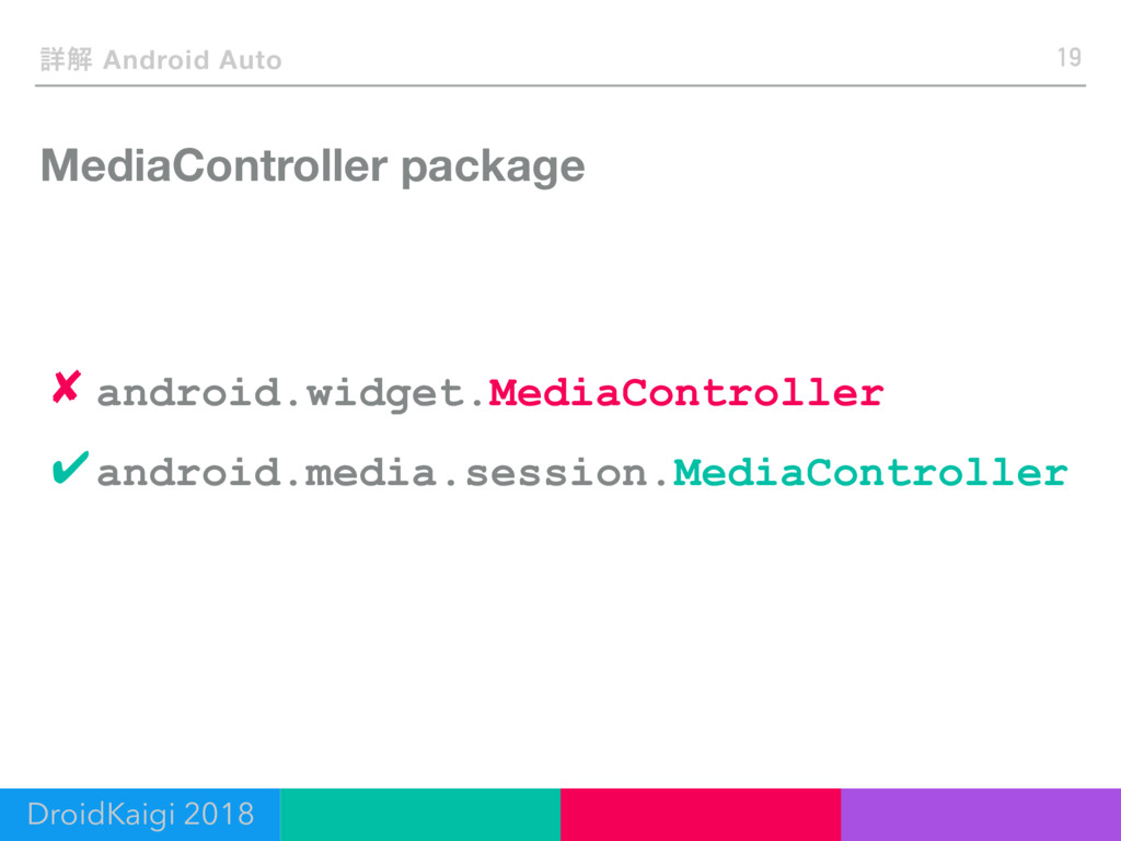 MediaController package 19 ৄղ Android Auto ✔and...