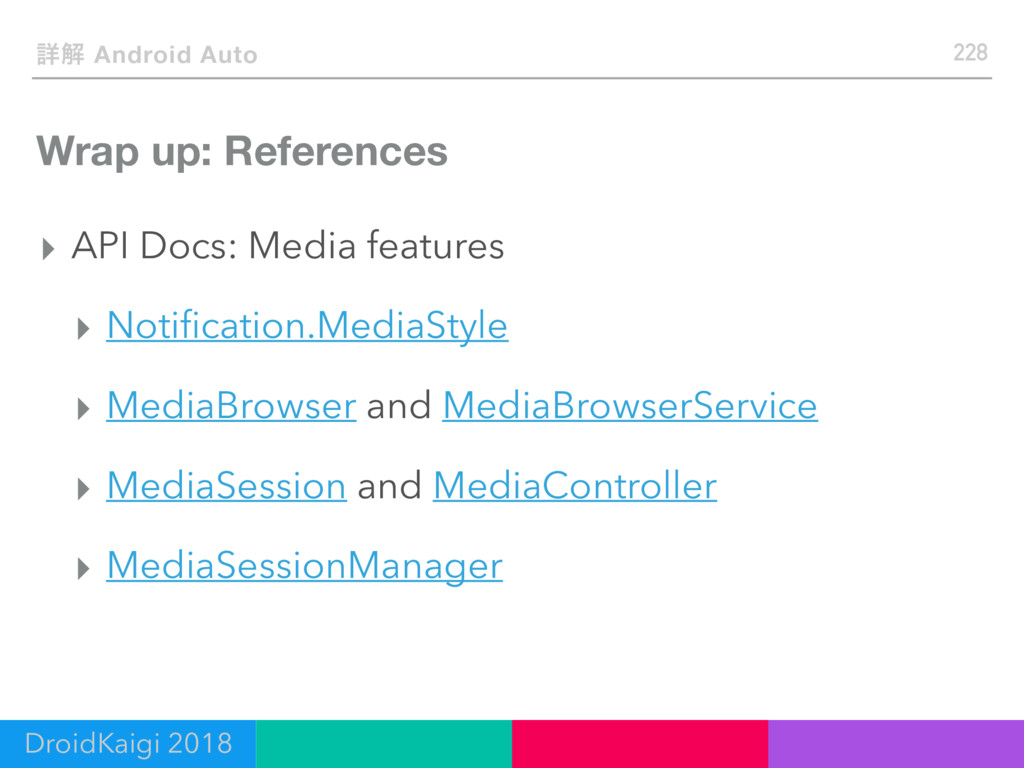 Wrap up: References ▸ API Docs: Media features ...
