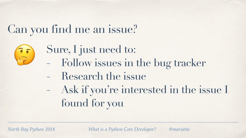Can you find me an issue?  Sure, I just need to...
