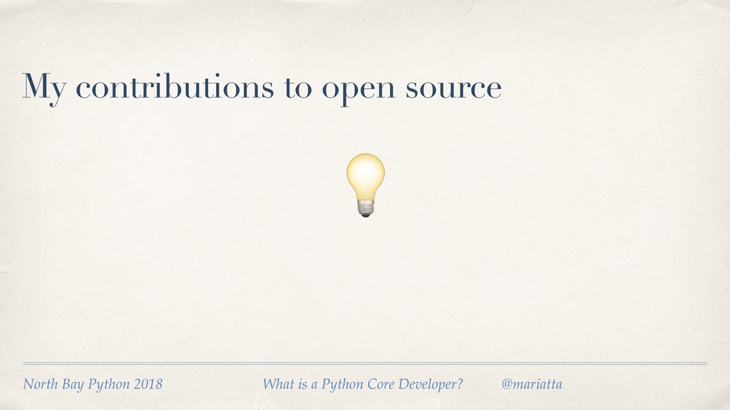 My contributions to open source  North Bay Pyth...
