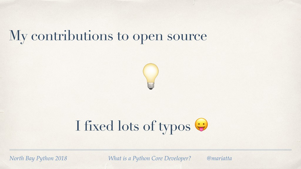My contributions to open source  I fixed lots o...