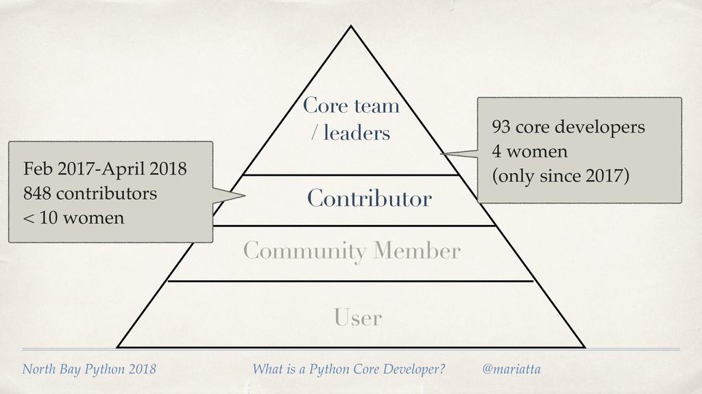 User Community Member Contributor Core team / l...