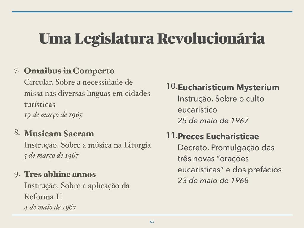 Uma Legislatura Revolucionária 10.Eucharisticum...