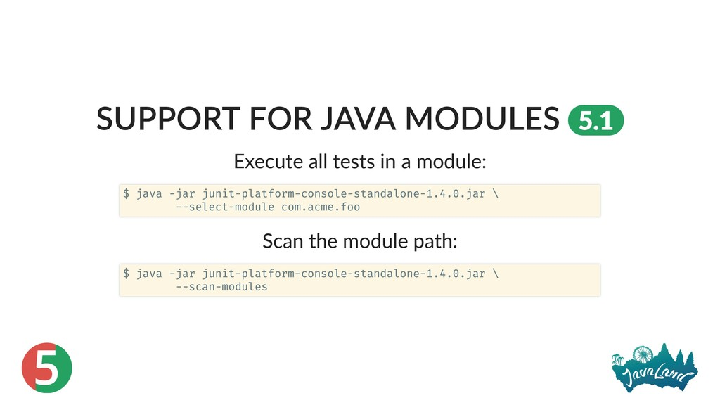 5 SUPPORT FOR JAVA MODULES 5.1 Execute all test...