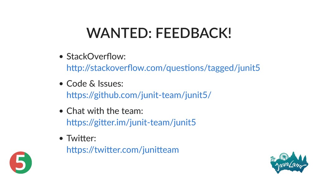5 WANTED: FEEDBACK! StackOverflow: Code & Issues...