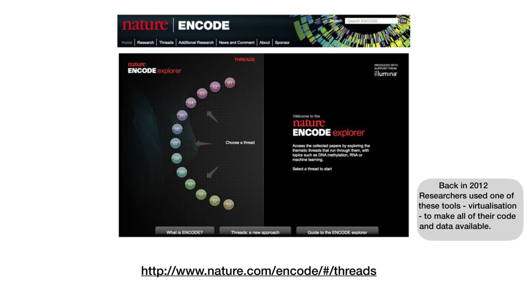 http://www.nature.com/encode/#/threads Back in ...