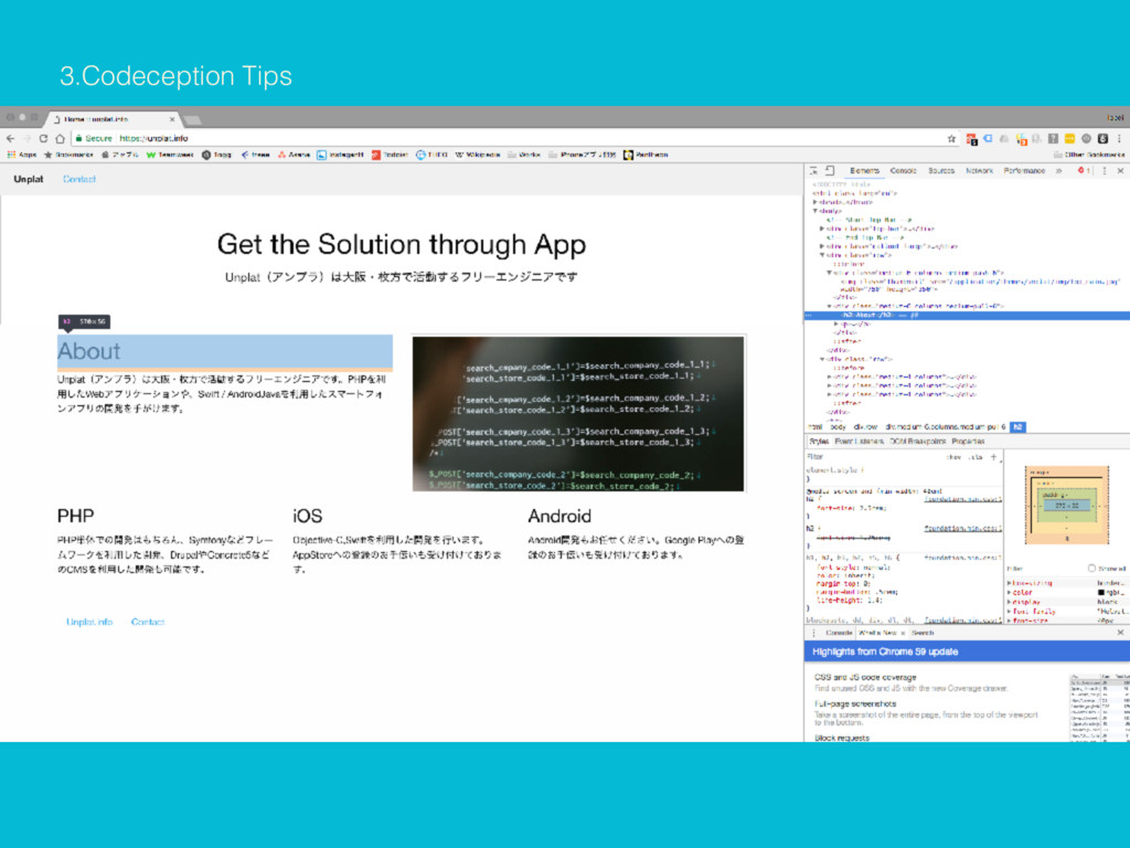 3.Codeception Tips