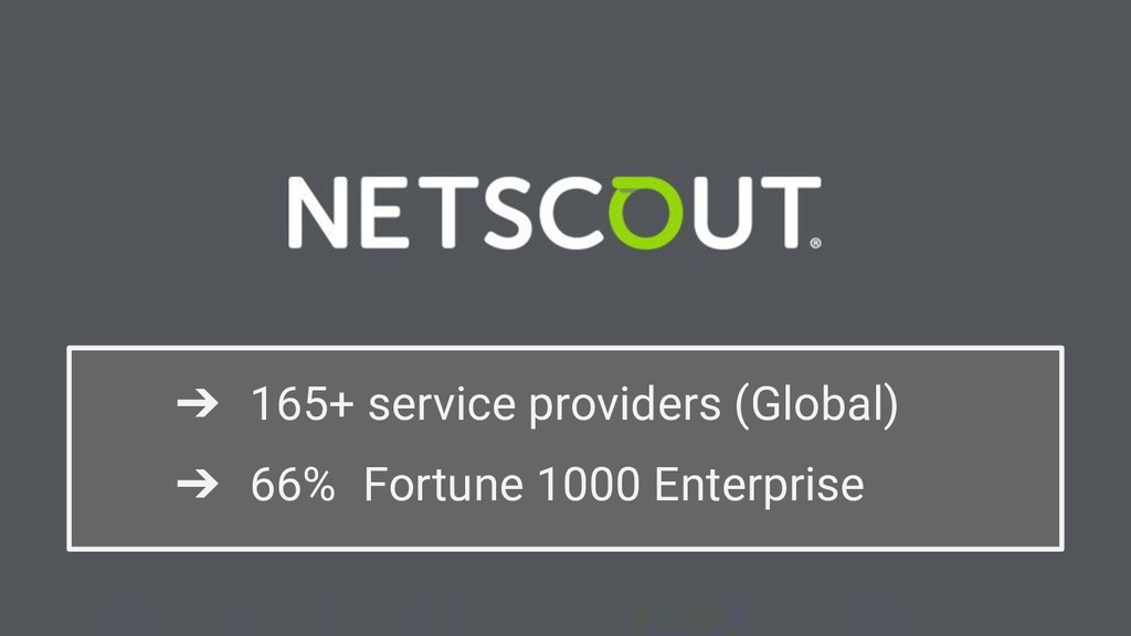 ➔ 165+ service providers (Global) ➔ 66% Fortune...