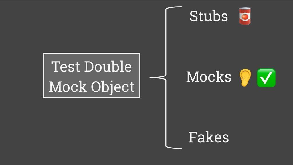 Test Double Mock Object Stubs Mocks Fakes
