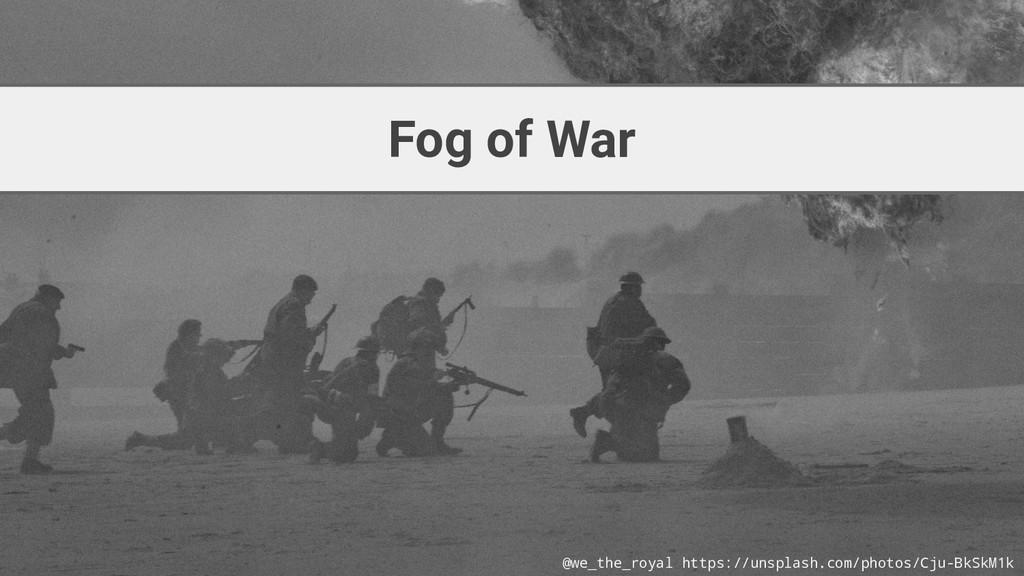 Fog of War @we_the_royal https://unsplash.com/p...