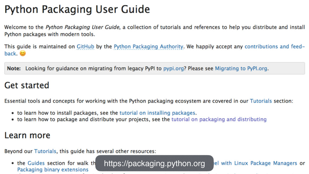 https://packaging.python.org