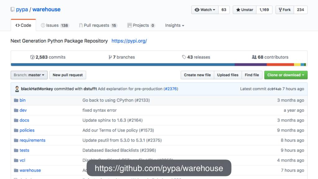 https://github.com/pypa/warehouse