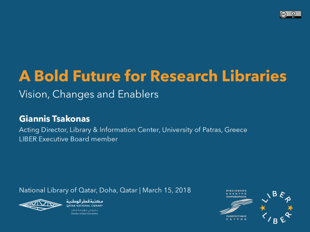 A Bold Future for Research Libraries Vision, Ch...