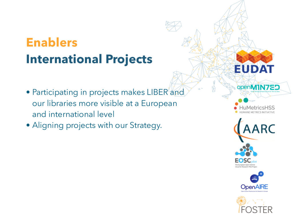 Enablers International Projects • Participating...