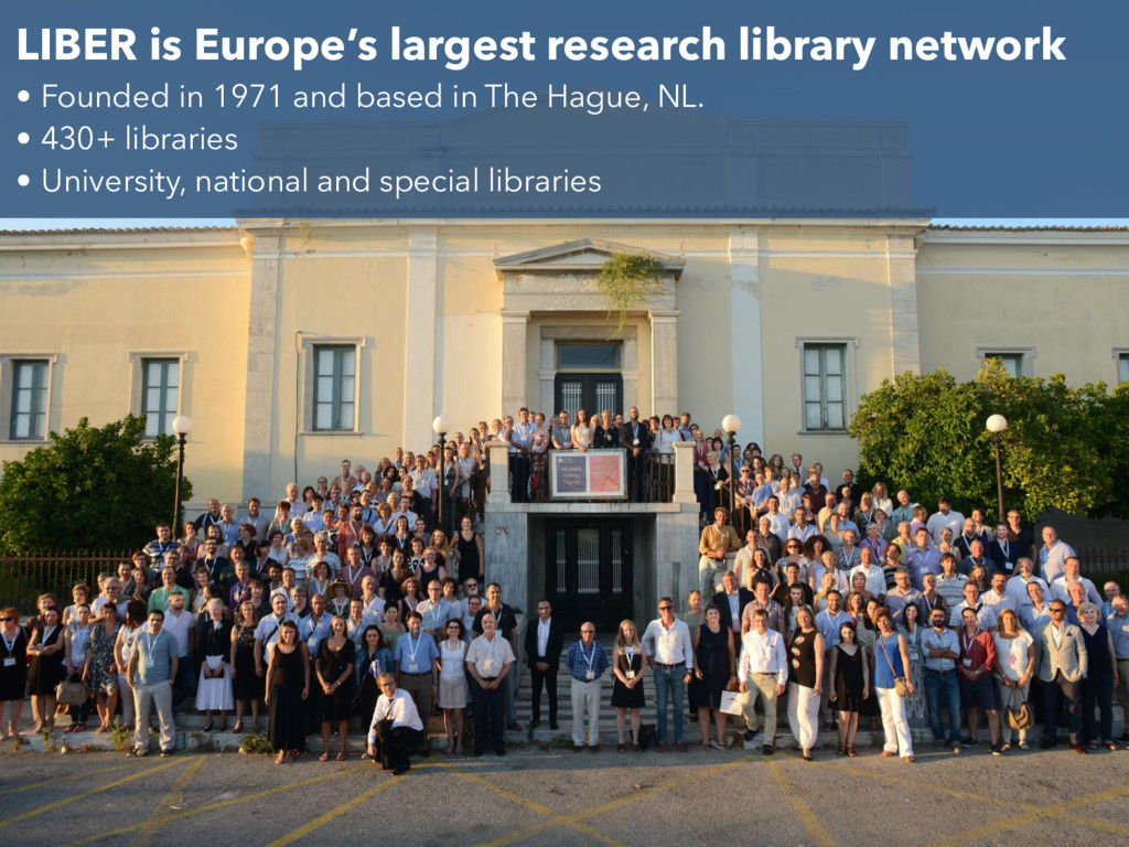 LIBER is Europe's largest research library netw...