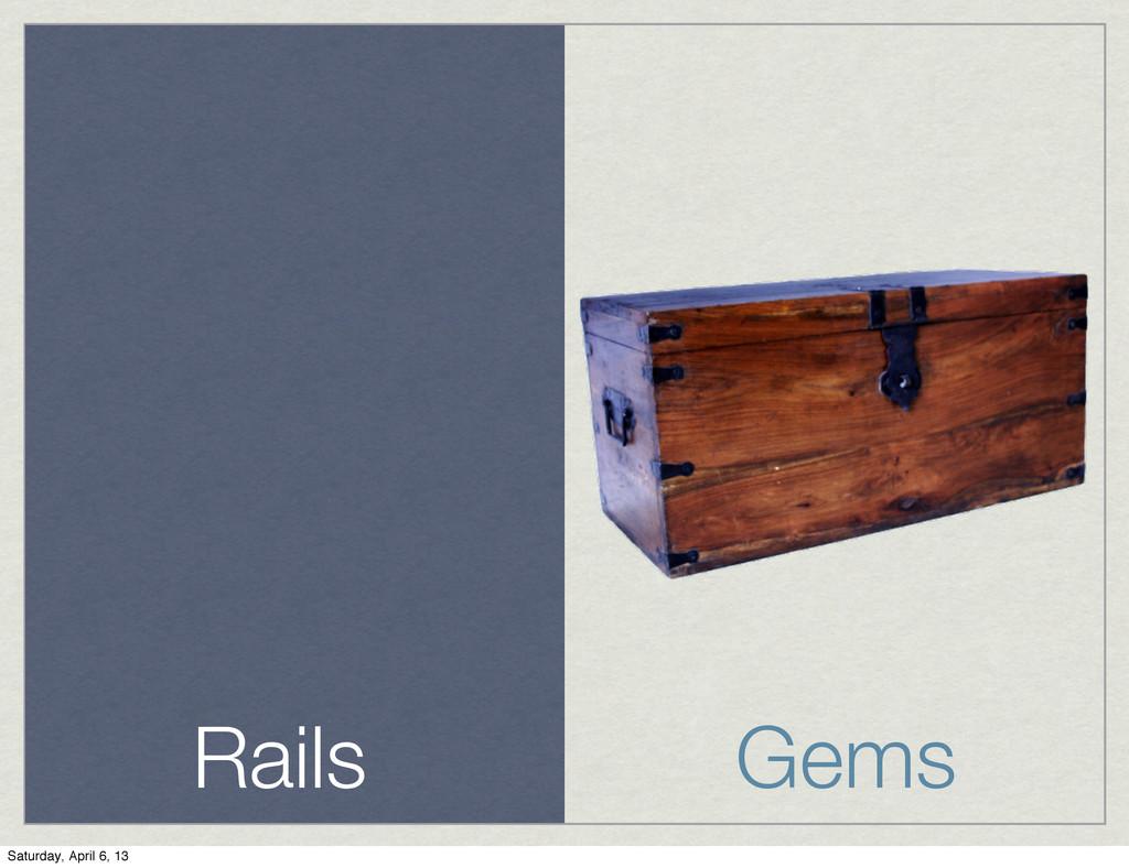 Rails Gems Saturday, April 6, 13