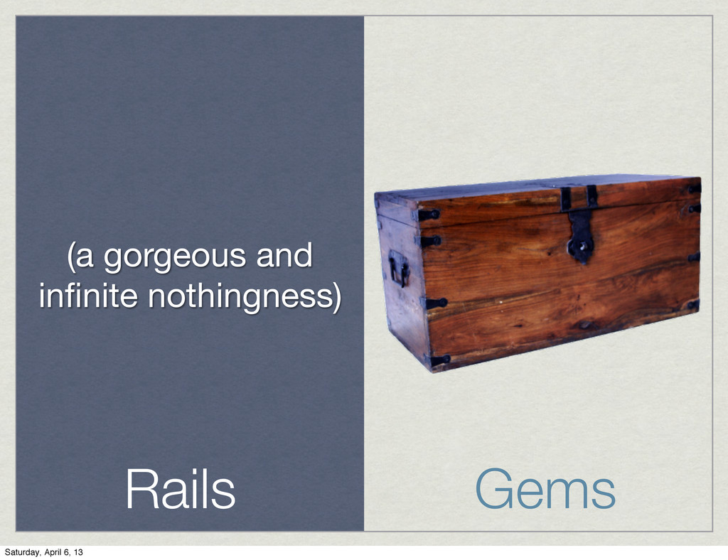 (a gorgeous and infinite nothingness) Rails Gems...