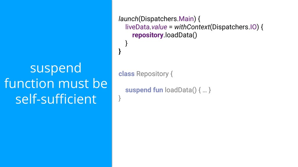 suspend function must be self-sufficient launch(D...