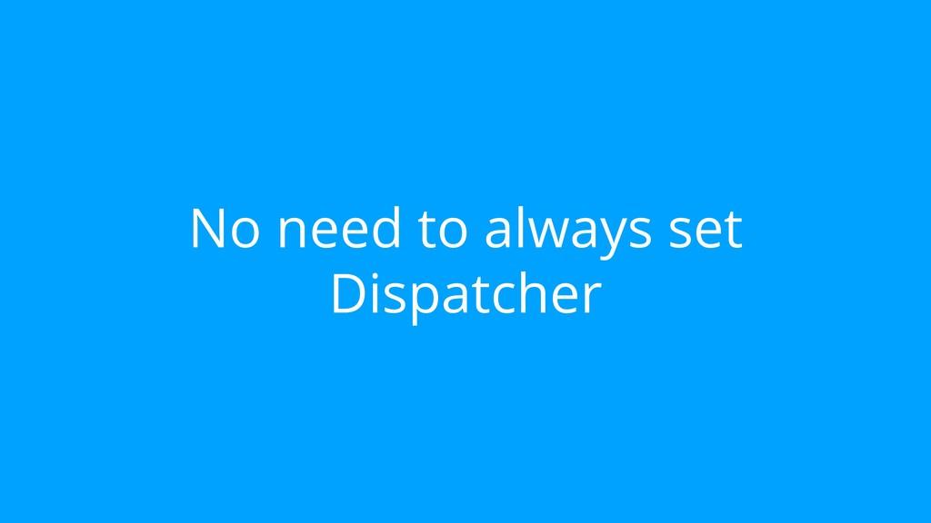 No need to always set Dispatcher