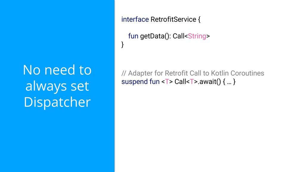 No need to always set Dispatcher interface Retr...