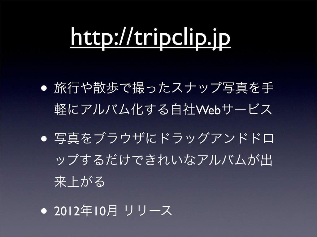 http://tripclip.jp • ཱྀߦาͰͬͨεφοϓࣸਅΛख ܰʹΞϧόϜԽ͢...