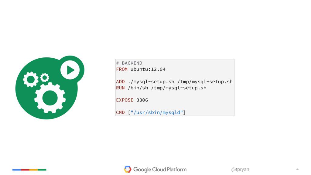 ‹#› @tpryan # BACKEND FROM ubuntu:12.04 ADD ./m...