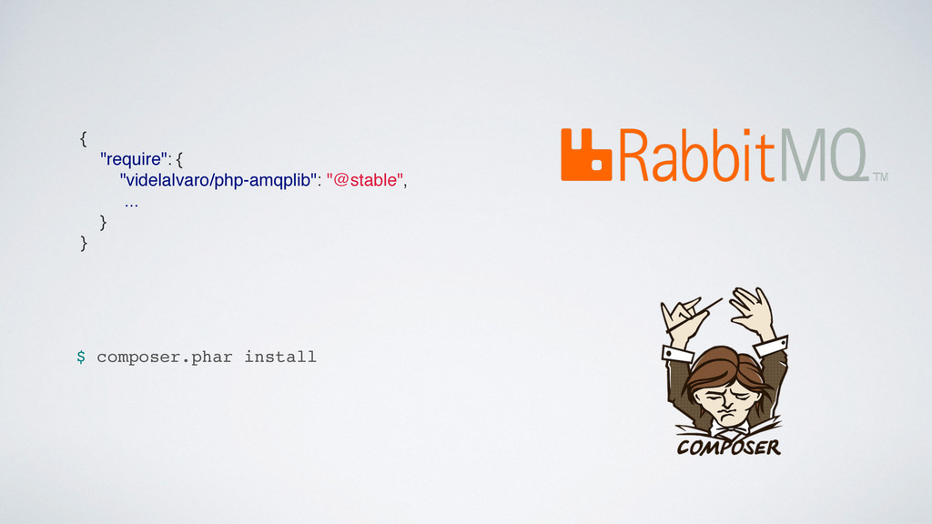 "{ ""require"": { ""videlalvaro/php-amqplib"": ""@sta..."