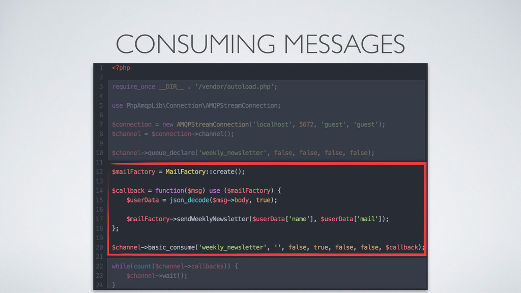 CONSUMING MESSAGES