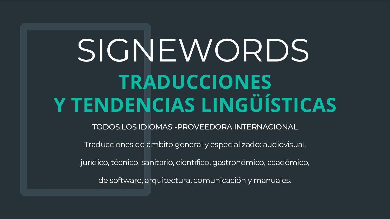 SIGNEWORDS Integra Traducciones - Contenido web...