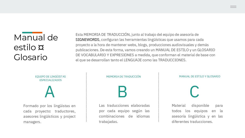 Manual de estilo ¤ Glosario Esta MEMORIA DE TRA...