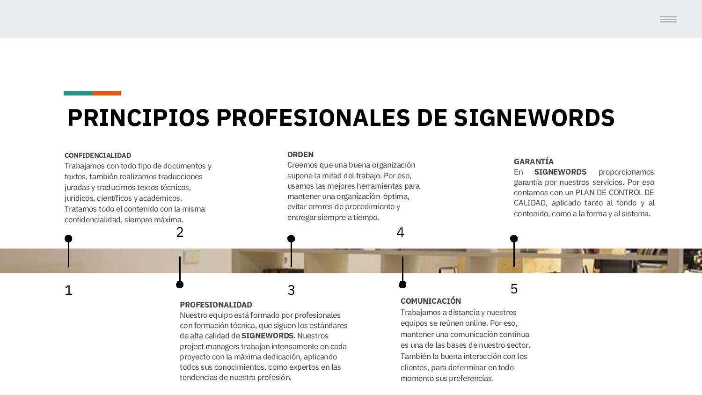 PRINCIPIOS PROFESIONALES DE SIGNEWORDS 1 CONFID...