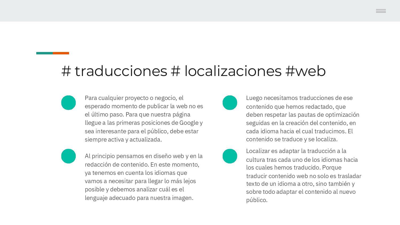Contenido # traducciones # localizaciones Web 1...