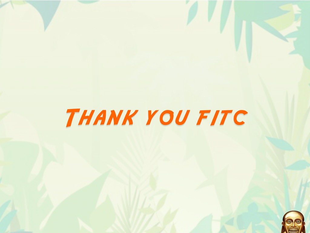 Thank you fitc