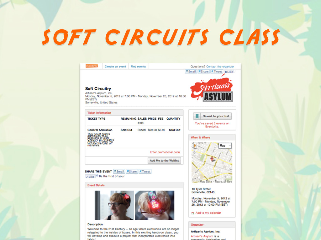 soft circuits class