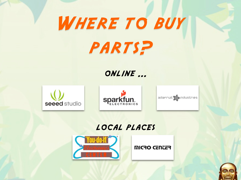 Where to buy parts? local places online ...