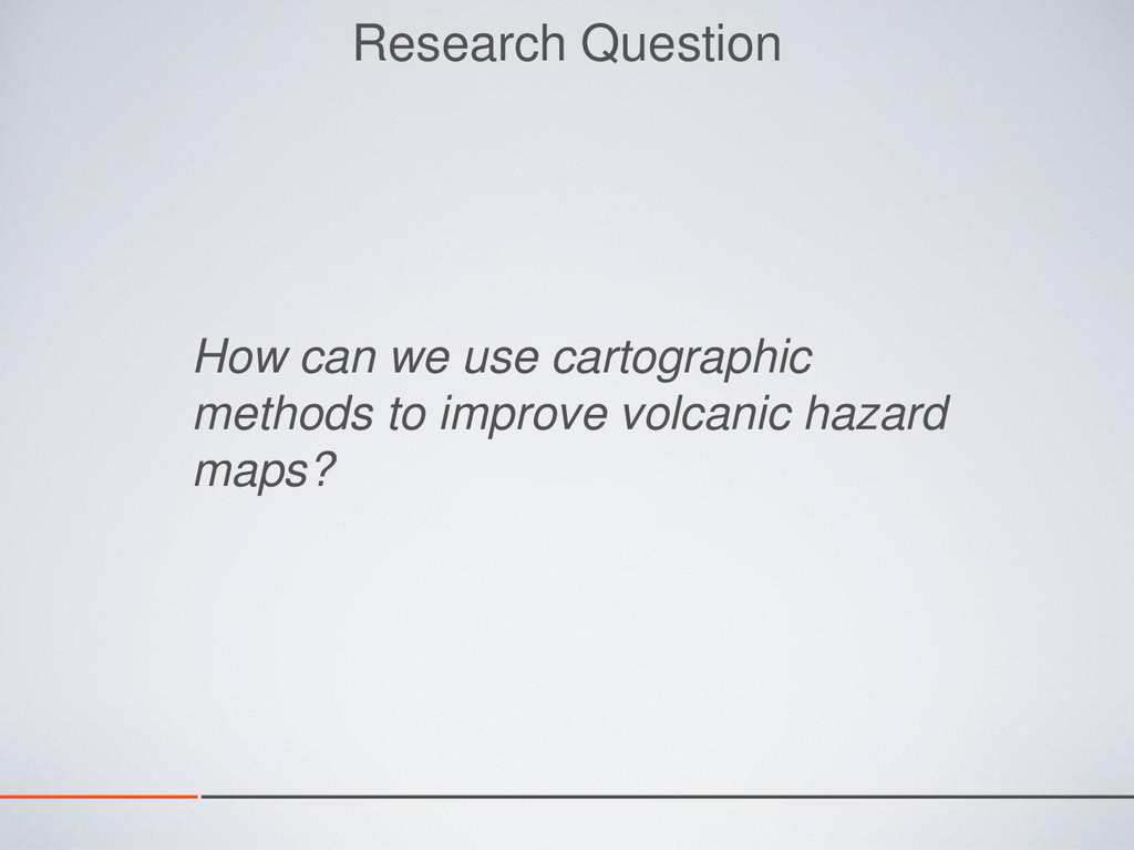 Research Question How can we use cartographic m...
