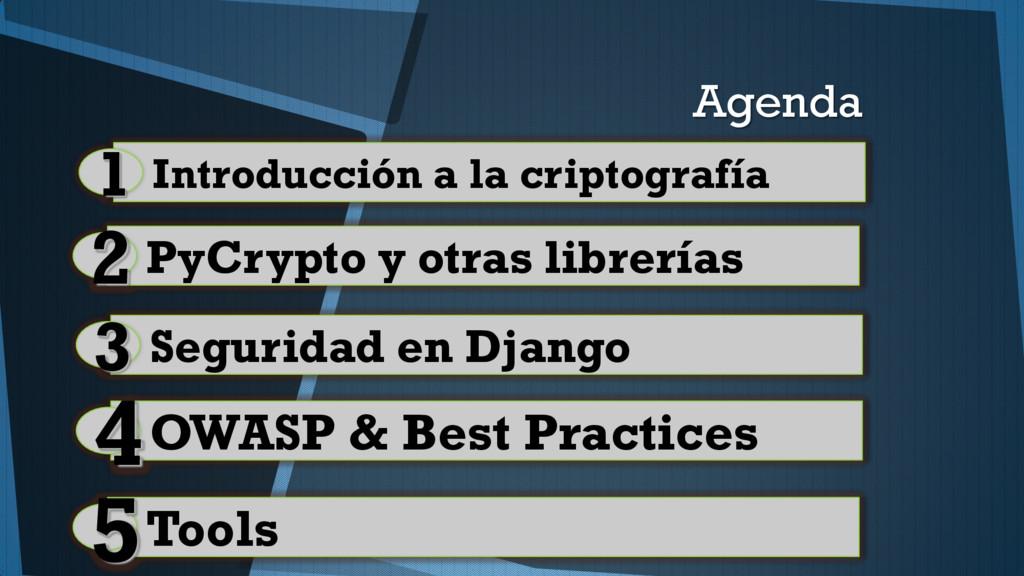 Agenda Introducción a la criptografía 1 OWASP &...