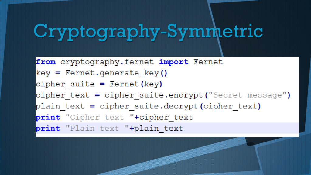 Cryptography-Symmetric