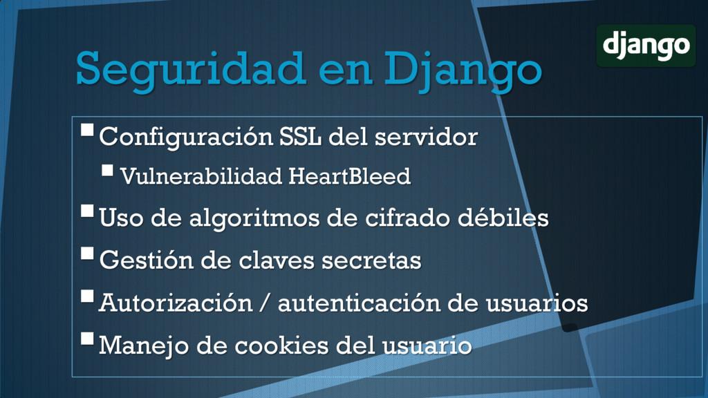 Seguridad en Django Configuración SSL del serv...