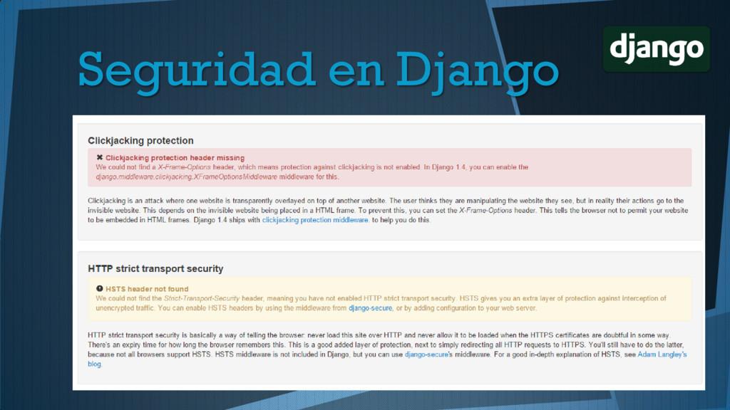 Seguridad en Django