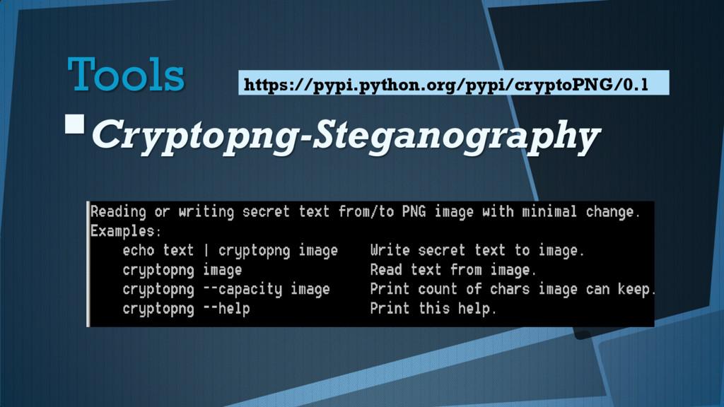 Tools Cryptopng-Steganography https://pypi.pyt...