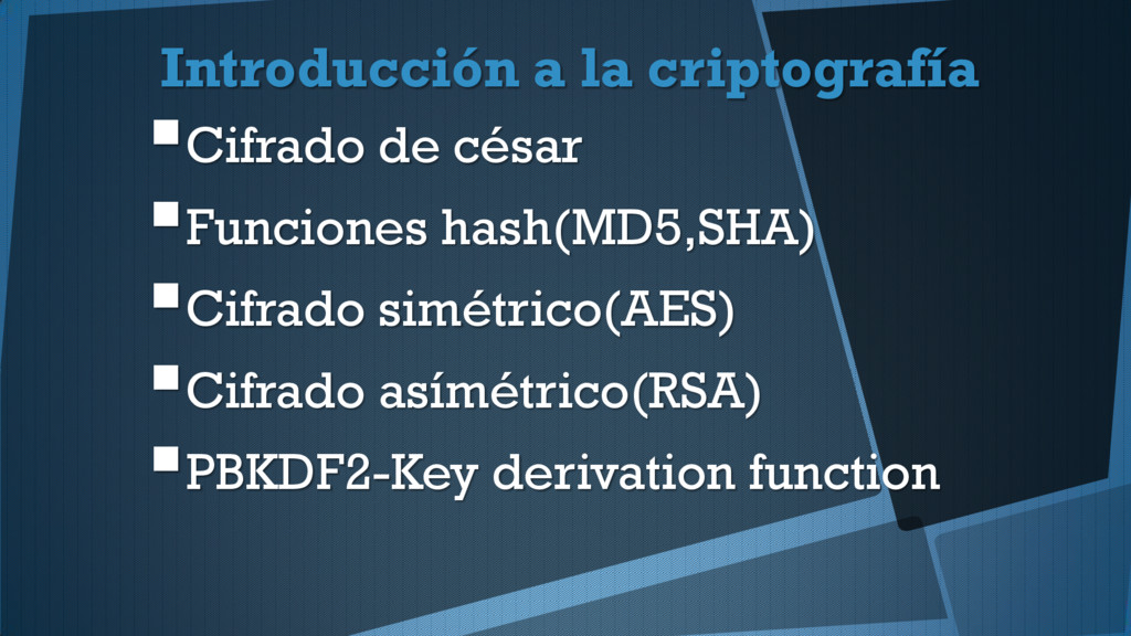 Introducción a la criptografía Cifrado de césa...