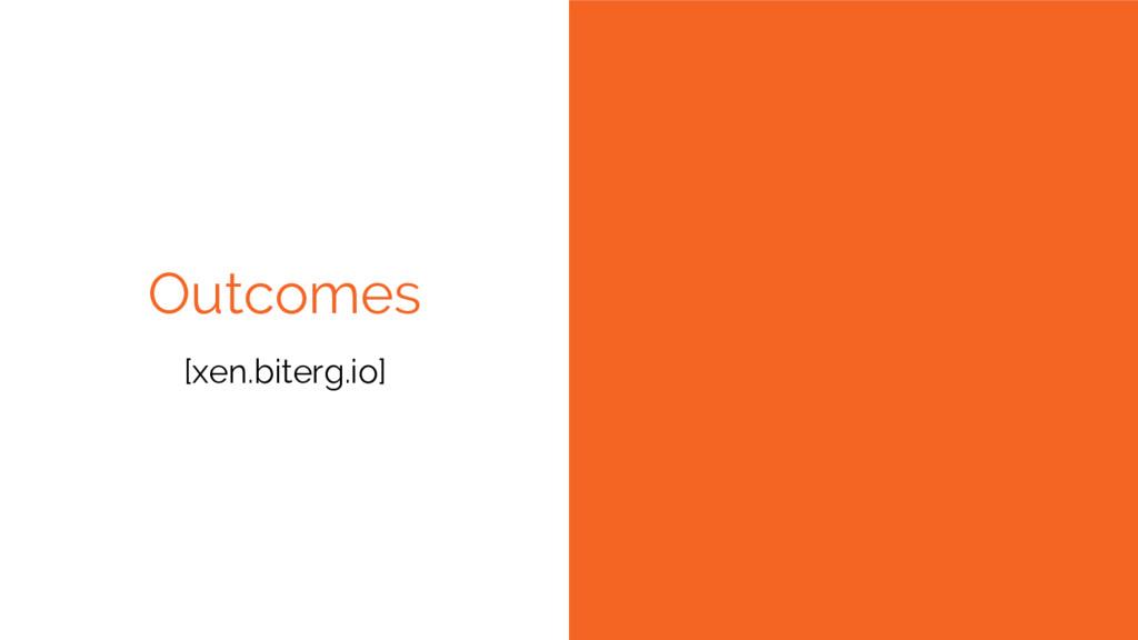 Outcomes [xen.biterg.io]