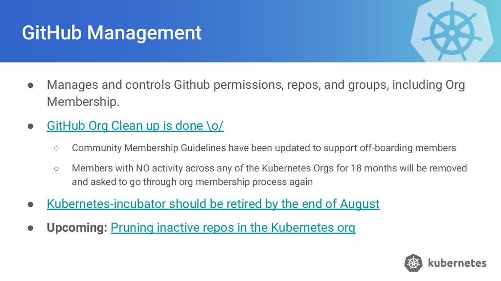 GitHub Management ● Manages and controls Github...