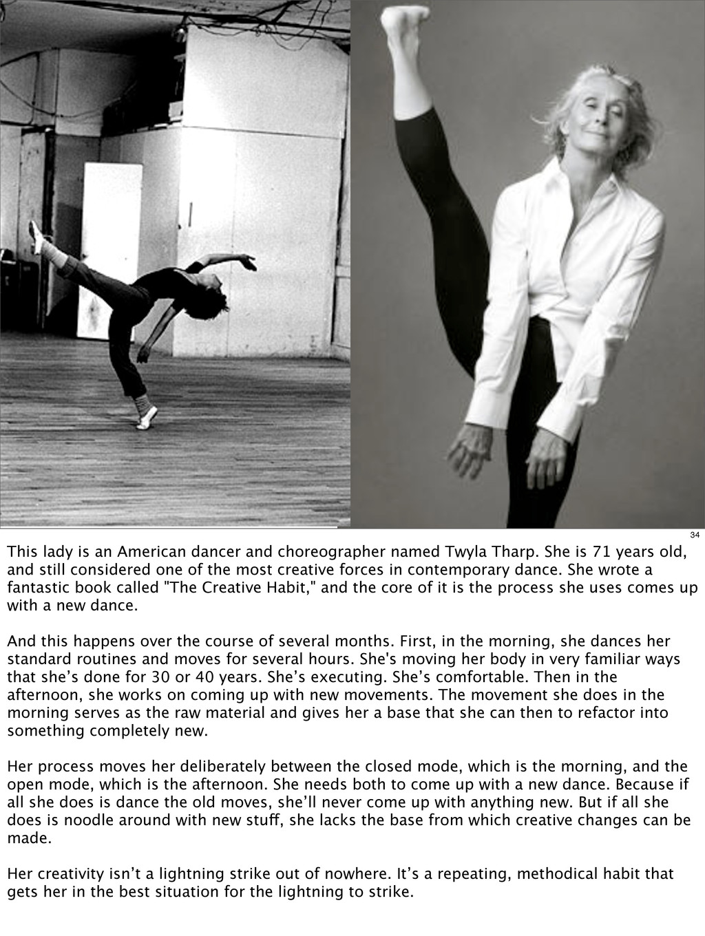 34 This lady is an American dancer and choreogr...
