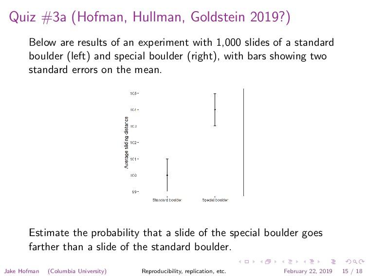 Quiz #3a (Hofman, Hullman, Goldstein 2019?) Bel...