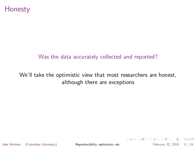 Honesty Was the data accurately collected and r...
