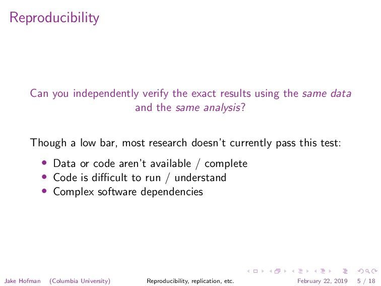 Reproducibility Can you independently verify th...