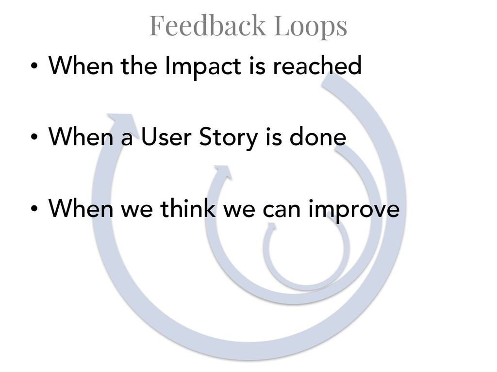 Feedback Loops • When the Impact is reached • W...